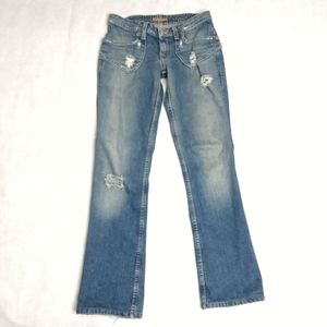 Vintage Hudson Baby Boot Cut Distressed Jeans 27